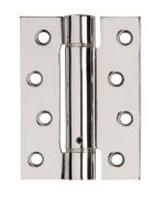 "Polished Chrome Plated 4"" Single Action Adj Spring Hinge - Fire Rated - 3 hinge PK"